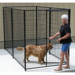 iron fence dog kennel