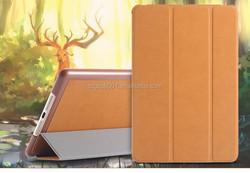 Buckskin Deer skin Texture Leather Case for iPAD MINI 4 MINI4 Leather Case foldable smart case magnetic sleep and wake up