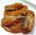conservas de pescado sardina en salsa de tomate con coco