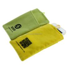 nice quality promo custom microfibre pad mobile bag