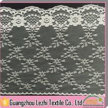 White Jacquard Elastic Nylon Mesh Lace For Wedding Dress