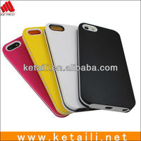 Wholesale silicone case for iphone 5 double color