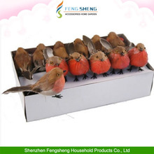 Christmas gift bird Wired Feet 10cm craft Artificial Robin feather birds