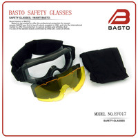 Factory wholesale tactical goggles airsoft eyewear safety military goggles