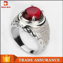 stylish design fashionable beautiful ruby 925 sterling silver ring with claw for women