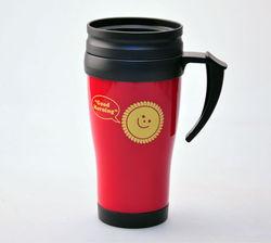 2014 High Quality Customized BPA Free Double Wall Cup Handle coffee mug