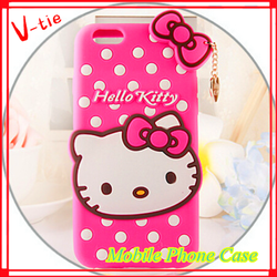 "4.7"" Hello Kitty Cute silicone 3D Soft Silicone Case for iphone6"