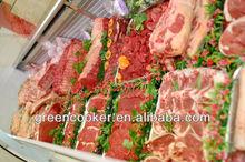 carne fresca de vacuno muestra supermercado en departamento de carne de vitrinas