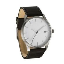 Fashion leather watch Japan movt quartz mechanical watches for men bule