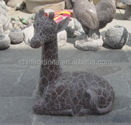 Cheap garden stone life size large decorative giraffe for Large garden stones for sale