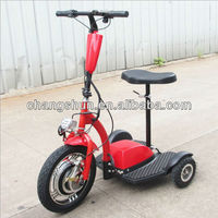 New 36V350W brushless hub motor 3 wheel scooter three wheels electric scooter/trike for adults, CS-E8012