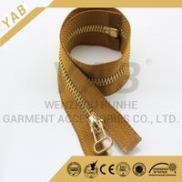 metal zipper gold teeth roll