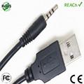 cable conector de audio estéreo mini jack a USB de 4 pies 3.5 mm