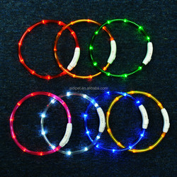 New Silicone LED rechargeable Dog collar conform to CE&Rohs
