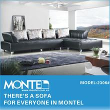 2015 New modern inflatable leather corner sofa