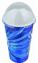 16oz custom design single wall disposableice paper cups with lids