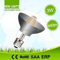 High quality R80 led filament bulb 360 degree home lighting e27 led filament candle bulb