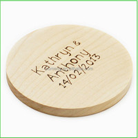New Cute Wooden Coffee / Cup Coaster / Tea Mat & pads Wholesale