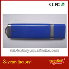 simple design USB flash drive in aluminum blue casing,high speed,good price