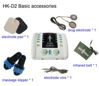 TENS acupuncture digital therapy machine massager with infrared heat function to ease pain HK-D2