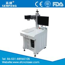 fiber laser marking machine on the belt buckle carbon for sale