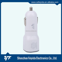 Adaptor Dual USB 2-Port mini Car Charger for Cell Phone