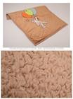Elegantes padrões de desenhos animados de animais bordados miúdos velo coral baby& cobertor infantil