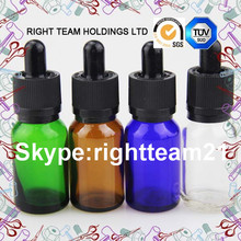 child proof glass dropper bottle amber/clear/blue/clear glass e liquid bottle with dropper