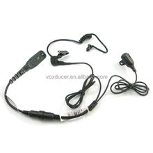 Wired preto acústico limpar tubo melhor marca mini fone de ouvido / fone de ouvido / microfone para Motorola Mototrbo walkie talkie