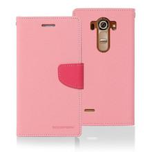 Korean Mercury Original Fancy Leather Phone Case Factory for LG G4