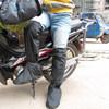 2015 pvc waterproof non-disposable motorcycle leg shoe cover