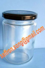 350ml Glass food sauce jar for chilli or bean
