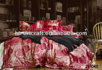 Printed Quilt Cover/White Bedsheet/3D Bedding Set JY-045