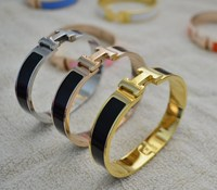 Europe And America latest design enamel cloisonne bracelets gold bangles for girls bangle bracelet