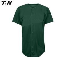 Cheap button up short sleeve baseball shirt