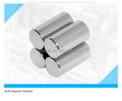 manufacturer diametrically magnetized cylinder neodymium magnet