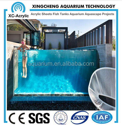 High quality and clear acrylic sheet swimming pool buy for Piscina de acrilico