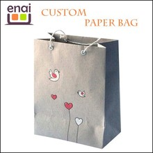 Special custom brown shopping bag kraft paper bag gift with plastic lining