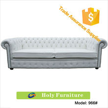 966# 2015 new products Chesterfield antique 4 Seater Settee White Leather Sofa alibaba china furniture