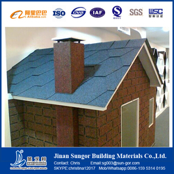 Hot Sale Durable Bent Interlocking Asphalt Roofing Tiles