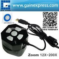 Black Digital Mini Microscope Auto Focus 5MP Camera Zoom USB 12x ~ 200x