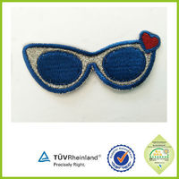 High quality Classic cheap colorful embroidered patch with adhesive back
