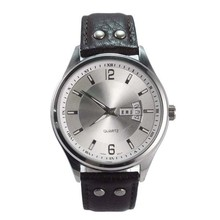 custom quartz stainless steel watch water resistant,china watch factory genuine leather watch