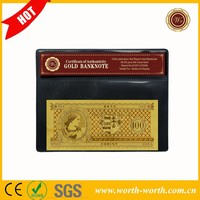 Good price Hungary 100 forint Gold Banknote, 24K Gold Foil Banknote in COA Frame for hot sale