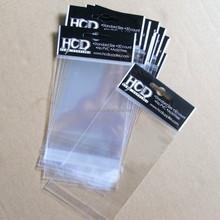 custom plastic OPP gift packaging bag with hang header