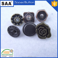 Fashion flower shape shank metal button for jeans