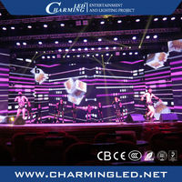 High Resolution Video Stage LED Curtain Full Color