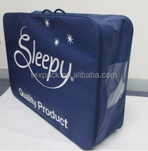 Light weight dark blue nonwoven bedding pack quilts bag