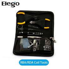 DIY Tool Kit Ceramic Tweezers Coil jig Ohm DIY Kit For RDA RBA RTA RDTA Atomizer Vape Mod Coil full kit