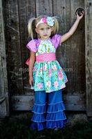 2015 wholesale New designs hot sale girls ruffle pants busha baby pants